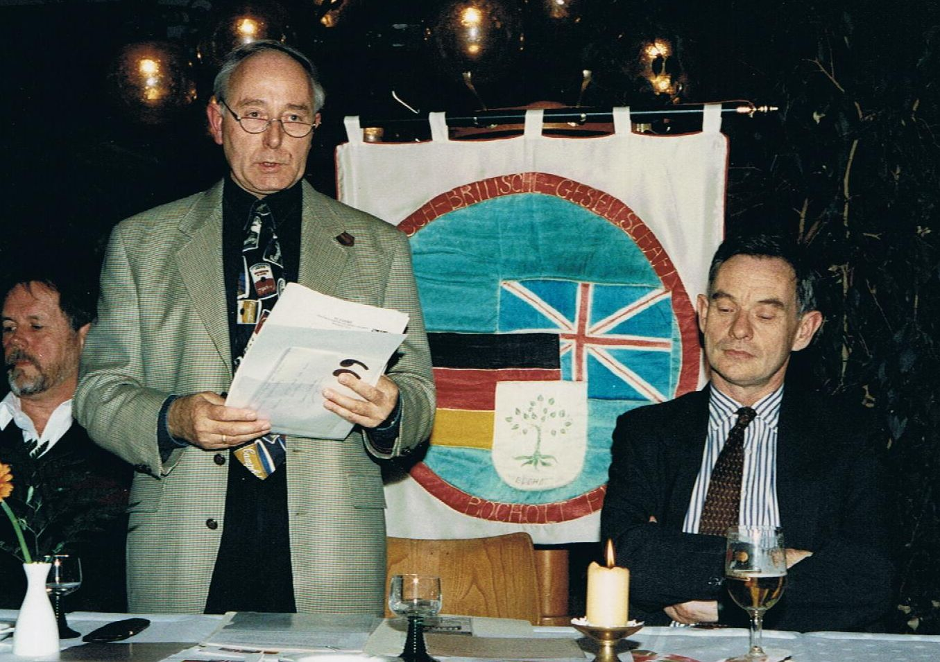 Konsul Donald Holder und Karl-Gerd Geßner, v. re.