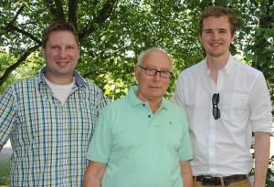 v.l. Christian Strauß, Karl Gerd Geßner, Sam Excell